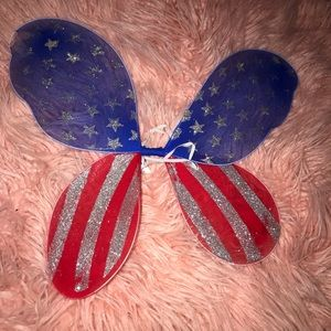 Red white and blue fairy wings